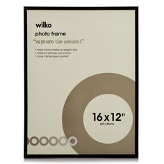 Wilko Easy Photo Frame Black 16 x Image 1 Black Photo Frames, Photo Picture Frames, Easy Frame, Cinema Room, Hanging Photos, Family Values, Business For Kids, Inspire Me, Are You Happy