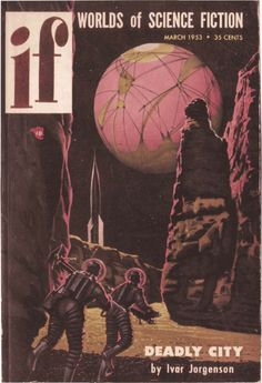 scificovers: Ifvol 2 no 1 March 1953. Cover art by Ken Fagg.