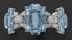 Aquamarine bracelet, Cartier New York, 1937
