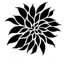 Flower Stencil Dahlia Grande SM - Floral Stencils for Painting Walls - Reusable wall stencils instead of wall decals - Easy DIY Wall Decor Tree Stencil, Damask Stencil, Stencil Patterns, Stencil Painting, Stencil Designs, Flower Stencils, Stenciling, Silk Painting, Sgraffito