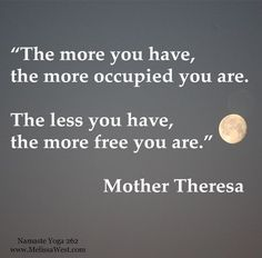 #MotherTheresa Don't let money rule your world - financial freedom means being in control of your finances, not letting them control you! #quotes
