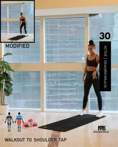 Hiit Workout Routine, Full Body Hiit Workout, Hiit Workout At Home, Gym Workout Videos, At Home Workouts, Man Workout, Bridge Workout, Week Workout, Exercise Videos
