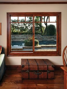 Inside View Of Milgard Essence Casement Wood Windows