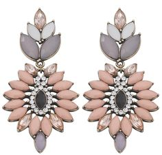 Bijou Brigitte Loves Pastel Earrings Lt 3 Flowers Winter 2017 Fashion