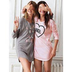 Victoria's Secret Angel Pyjama Party Lookbook 2014 My Face Hunter ❤ liked on Polyvore featuring victoria's secret