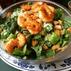 It's Fabulous Friday and lunch is served! Today we have a Blackened Shrimp Ceasar Salad paired with our amazing Moroccan Clam Chowder! Our delicious Lavender Lemonade is back for the summer! We know how much you missed it so come on in and have a glass or two! #GhinisFrenchCafe #TucsonOriginalrestaurants