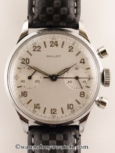 Now this is a men's watch, simple stream line and beautiful (Gallet 24hr Military Chronograph)