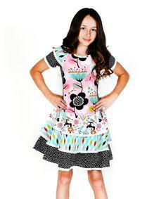 Aqua Printemps Whitney Dress - Infant, Toddler & Girls by Jelly the Pug #zulily #zulilyfinds