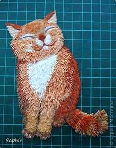 Картина панно рисунок Квиллинг Счастье - Бумага Бумажные полосы фото 15