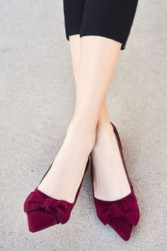 Suede bow flats | Sole Society Cosette