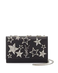 a9497fa7aca 100 Auth Women Yves Saint Laurent Monogram Medium Star Chain Shoulder Bag    eBay