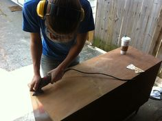 Refinishing furniture- recommends wood conditioner helps with staining.  Good to know