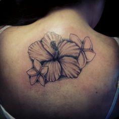 Hibiscus and Plumeria tattoo