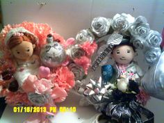 Gift Set for New Bride and Groom  Wedding by CathysCraftWorld, $175.00