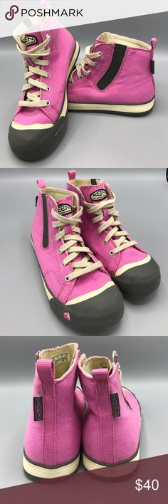 Keen Coronado canvas high top Girls 2 pink grey LIKE NEW!! Keen Coronado High Top Canvas Wild Orchid/Gargoyle (gray) Hard to find style in super excellent condition!! Keen Shoes Sneakers