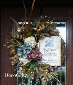 CELEBRATE HARVEST THANKSGIVING and Fall Grapevine by decoglitz
