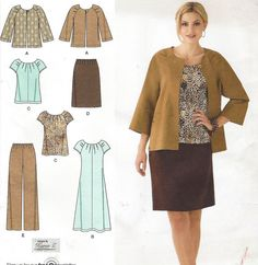 Plus Size Simplicity Sewing Pattern 2372 Womens by CloesCloset