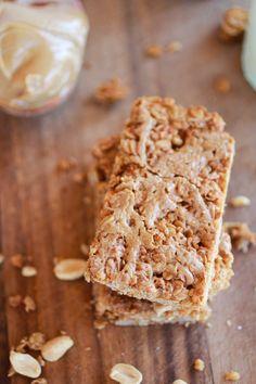 Crunchy Oatmeal Peanut Butter Oats 'n Honey Bars   http://www.halfbakedharvest.com/