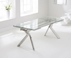 Mark Harris Palazzo 200cm Glass Extending Dining Table
