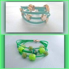 braccialetti a 3 giri con perle simil pandora