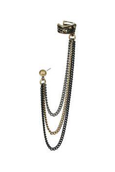 Multi Row Chain Ear Cuff - Earrings - Jewelry - Accessories - Topshop USA