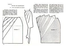 Skirt Pattern Sewing English Ideas - Her Crochet Skirt Patterns Sewing, Sewing Patterns Free, Clothing Patterns, Pattern Sewing, Pattern Draping, Patron Vintage, Modelista, Pattern Cutting, Fashion Sewing