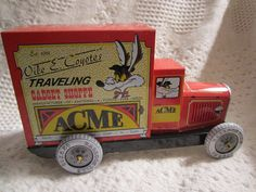 Wile E. Coyote Acme Truck Tin Toy