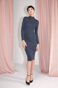 FW MURMUR Short Gray Dress