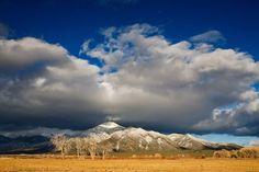 Fresh snow on Pueblo Peak. Taos, New Mexico.