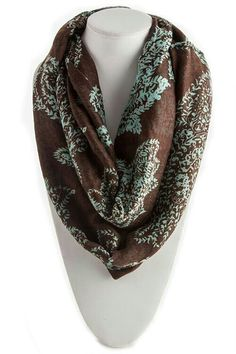 Brown & turquoise scarf