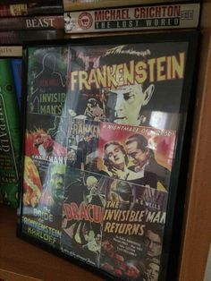 Halloween decorations universal studios classic monsters poster collage