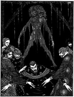 """The Black Cat: """"I had walled the monster up within the tomb!"""" - Clarke illustration"""
