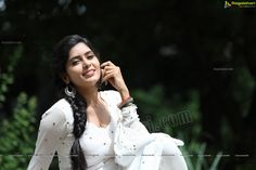 Check Out Exclusive Photos of Beautiful Indian Film Actress Madhumitha Krishna in White Punjabi Dress   Tollywood Actress Images