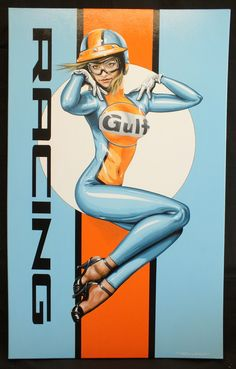 Gulf Oil was synonymous with auto racing, and famously sponsored the John Wyer A. - Pin Up - Auto Ford Gt40, Ford Mustang Fastback, Porsche Classic, Classic Cars, Classic Motors, Cars Vintage, Vintage Racing, Racing Team, Auto Racing