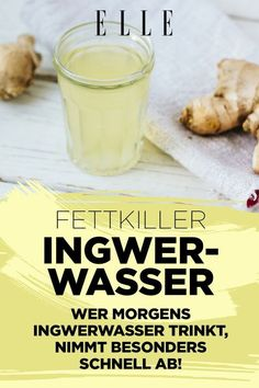ELLE - fashion, styling tips, models, designers Whoever drinks ginger water in the morning can lose weight very quickly weight This image has get day detox diät diät 3 tage drinks rezepte rezepte abnehmen smoothie rezepte toxins wasser rezepte weightloss Detox Recipes, Smoothie Recipes, Law Carb, Dietas Detox, Water In The Morning, Atkins Diet, Diet Plans To Lose Weight, Losing Weight, Weight Loss