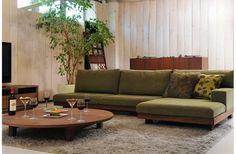 参考にしたいインテリアコーディネート実例集 【リビング編 その9】 - The Arch Design Japanese Sofa, Japanese Interior, Sofa Furniture, Furniture Design, Danish Sofa, Home And Living, Living Room, Diy Couch, Floor Seating