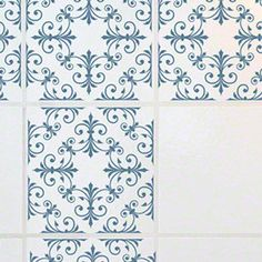 made by StickPretty Clear Background Tile Decals Tile Tattoos Anglesey Blue RETile Decal Tile Stickers