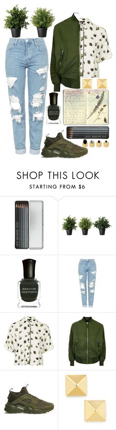 """""""Lost my head in New York, found it in Death Valley"""" by xxdarkmagicxx ❤ liked on Polyvore featuring beauty, Caran D'Ache, Moleskine, Deborah Lippmann, Topshop, NIKE and Ela Stone"""