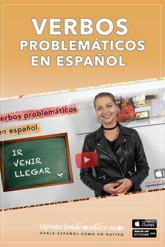 Aprender español - verbos problemáticos en español: ir, venir, llegar [Podcast 025] Learn Spanish in fun and easy way with our award-winning podcast: http://espanolautomatico.com/podcast/024REPIN for later