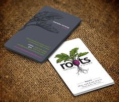 Roots Natural Foods needs a newunique amazingbusiness card Business card design #6 by pecas