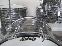 Black Oyster Pearl, Ludwig Super Classic drum kit. I miss playing