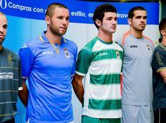 Nueva equipación 2013-2014 Real Oviedo, España.