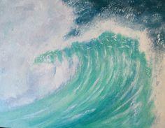Breaking Wave Original Acrylic Painting  https://folksy.com/shops/DaubersandShakers