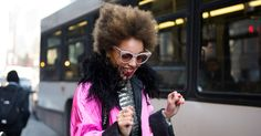 Street Style: Best of New York Fashion Week - Rhianna Jones at Moncler Gamme Rouge. - The New York Times