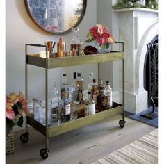 Libations Bar Cart in Dining & Kitchen Storage | Crate and Barrel