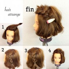 Short hair half up Medium Thin Hair, Medium Hair Styles, Curly Hair Styles, Little Girl Hairstyles, Diy Hairstyles, Pretty Hairstyles, Hair Arrange, Short Hair Updo, Toddler Hair