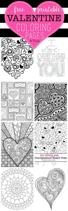 Free Valentine Coloring Pages at u-createcrafts.com