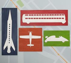 Airplane Planked Art   Pottery Barn Kids