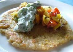 Dosa. Crispy pancake made from fermented rice & lentil mixture.