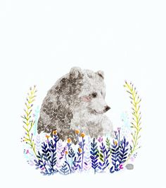 Daniela Dahf Henríquez// Flickr// Illustration - Markmaking// This illustration uses line in a similar way to how I painted one of my first hedgehogs, I think it's a good way to represent the texture of an animal by using line in this way, because it gives it that furry, or spiky look depending on how much line you use and the thickness or thinness of it. // How does the thickness or thinness of line affect the image? Does it change it?